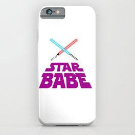 Pink Star babe  iPhone Case