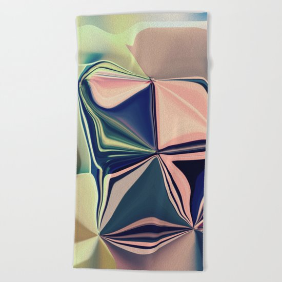 VIVID - Summer City Style #Abstract #Pastel #1  Beach Towel