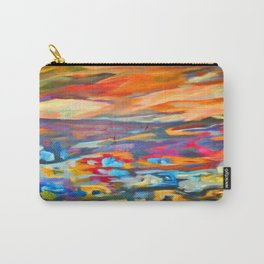 My Village | Colorful Small Mountainy Village Carry-All Pouch