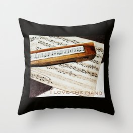 I love the piano Throw Pillow