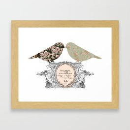 Lovely Vintage French Bird Shabby Chic Framed Art Print