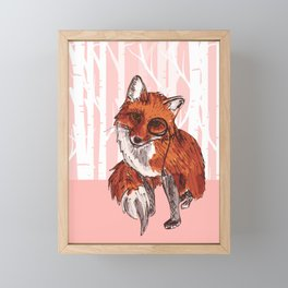 Fox with Monocle Framed Mini Art Print