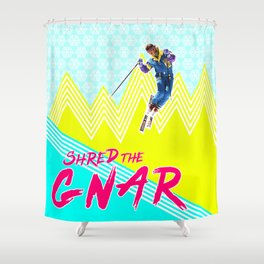 Shred the GNARski 02 Shower Curtain