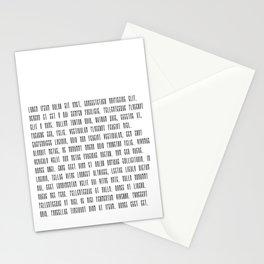 Lorem ipsum dolor sit met quote Stationery Cards