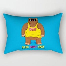 Bear Don't Care Rectangular Pillow