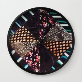 Texture Collage Wall Clock