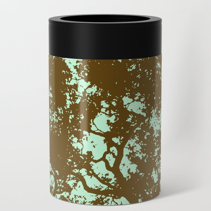 Mint and Brown Forest Can Cooler