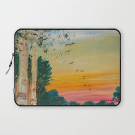 Daybreak at the Pond's Edge by Ainé Daveéd Laptop Sleeve