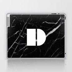Black Marble - Alphabet D Laptop & iPad Skin