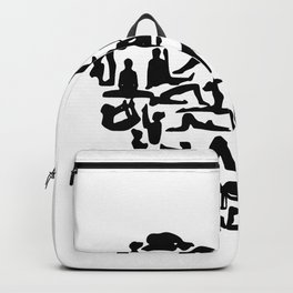 yoga heart Backpack