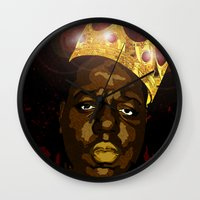 notorious Wall Clocks featuring Notorious by PeacexLovexAnimate