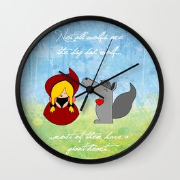 Little Red Riding Hood & Lovely Wolf ♥ Wall Clock