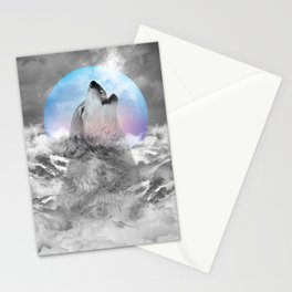 Maybe the Wolf Is In Love with the Moon Stationery Cards