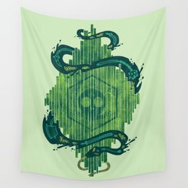 Green is the Color of Death Wall Tapestry