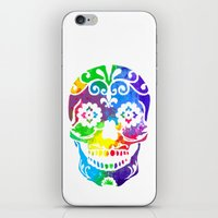 sugar skull iPhone & iPod Skins featuring Sugar Skull by Diana Arend