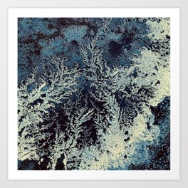road salt abstract Art Print