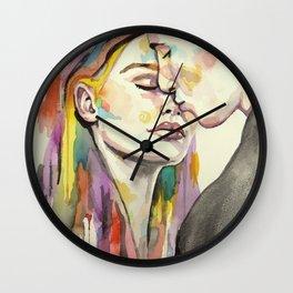 Stolen Kiss Wall Clock