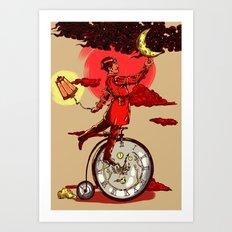 Solving Time  Art Print
