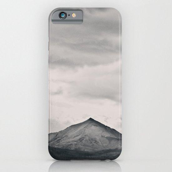 Mountain Peak and Plateau Black and White iPhone & iPod Case