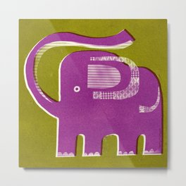 PURPLE PACHYDERM Metal Print