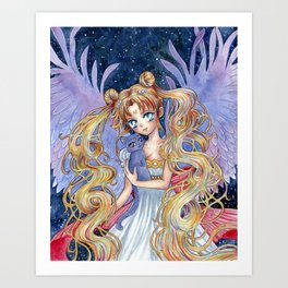 Sailor Moon & Luna Art Print