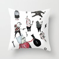 allyson johnson Throw Pillows featuring Minis Johnson by Franck Chartron