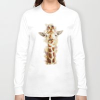 giraffe Long Sleeve T-shirts featuring giraffe by beart24