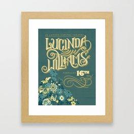Lucinda Williams  Framed Art Print