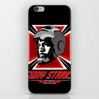tony stark iPhone & iPod Skins featuring Tony Stark by Ant Atomic