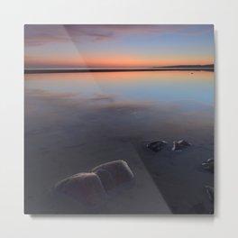Sunset At The Beach. Magic beach Metal Print