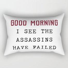 The Assassins Failed Rectangular Pillow