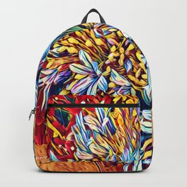 Blues Bouquet with Yellow and Red Backpack