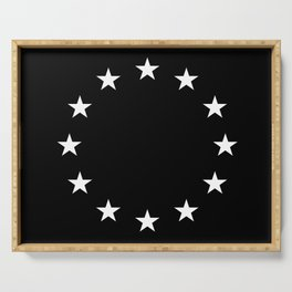 Flag of Europe 3 – tragical variation Serving Tray