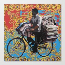Fabric Seller Canvas Print
