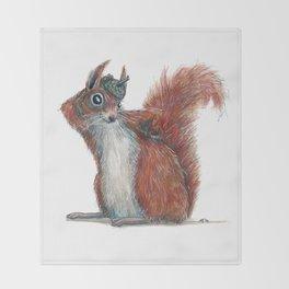 Squirrels' hat Throw Blanket