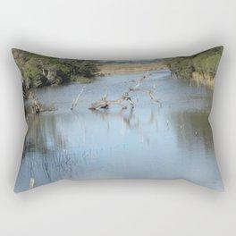 Skeleton Tree In A River Rectangular Pillow