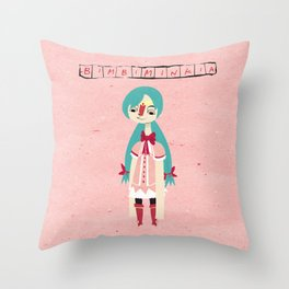 """Bimbiminkia"" - Cosplayer Throw Pillow"
