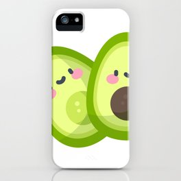 Сute 2 halves of avocado say hello iPhone Case