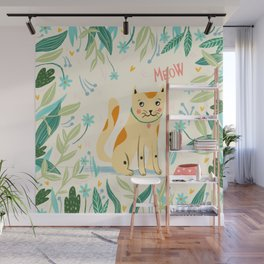 Meow cat Wall Mural