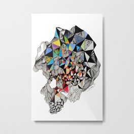 colorful triangle Metal Print
