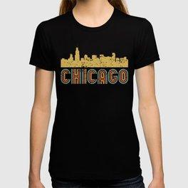 Retro Chicago Illinois Skyline T-shirt