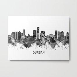Durban South Africa Skyline BW Metal Print