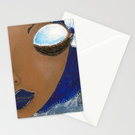 Sassy Girl Royal Blue and White Stationery Cards