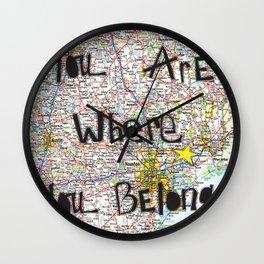 Where You Belong-Houston Wall Clock