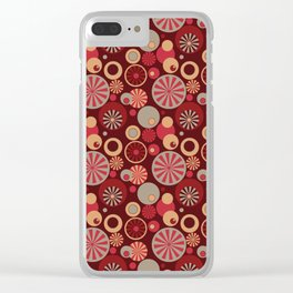Circle Frenzy - Red Clear iPhone Case