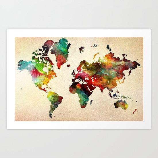 A Painted World Art Print