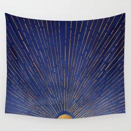 Twilight / Blue and Metallic Gold Palette Wandbehang
