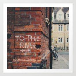 To the River Cambridge photograph Art Print