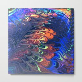 Butterfly Wings Abstract Metal Print