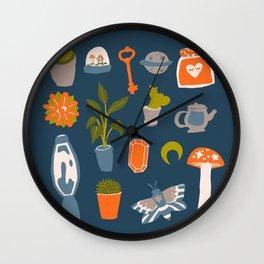 Minimalist Teenage Bedroom Blue Flash Sheet Wall Clock
